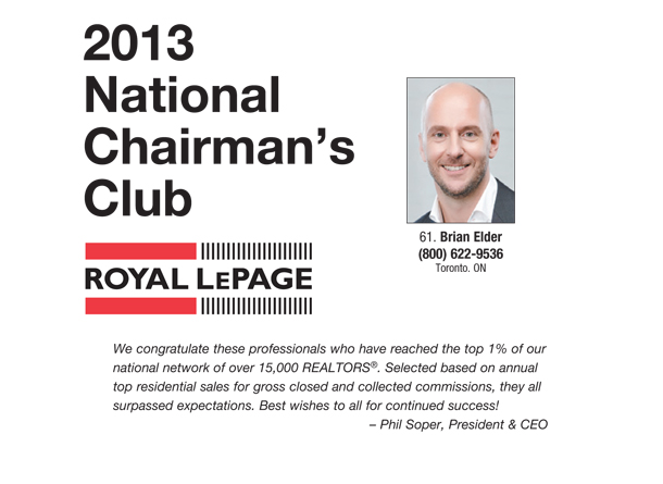 Chairman's Club 2013