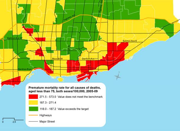 Toronto Health Rankings